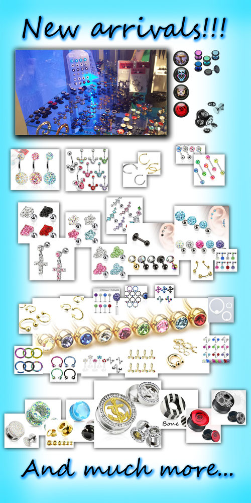 Blue Magic Pins New Piercing Arrivals