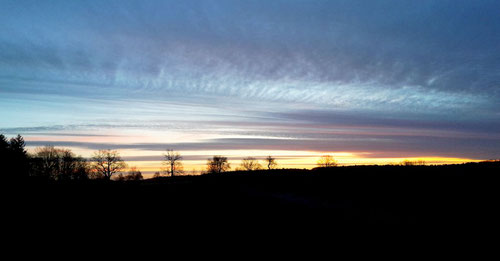 Sonnenaufgang bei Reudnitz (Brandenburg)