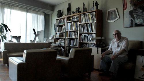 Martin Blaszko en su casa.
