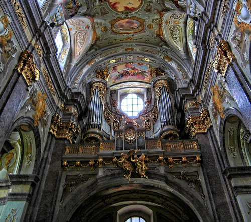 Die berühmte Barockorgel in der Wallfahrtskirche Basilika Sonntagberg