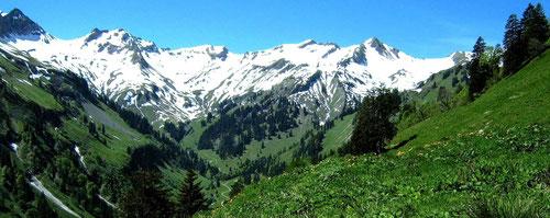 Obertal vom Gebiet der Käseralpe beim Anstieg zur Schwarzenberghütte