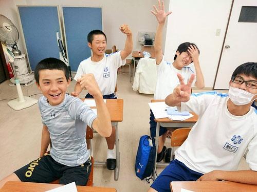 やった~勝った~~!!うわ~負けた~、、、今、塾超じゃんけんが、塾生の間でひそかな楽しみになっています。