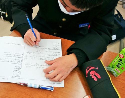 テスト当日の朝学習は、やった問題がそのまま出るので、生徒には大好評!