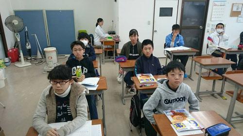プレミアム授業に参加した小学生のみんな。(新中1も含む)