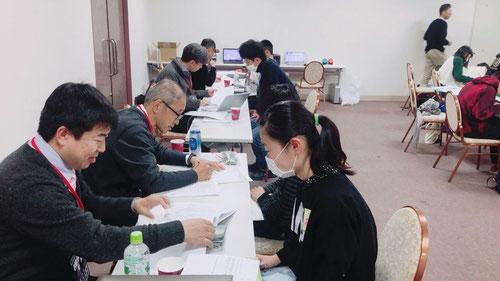 一番手前が、人気のKJ国語担当、横浜校の前田校長。