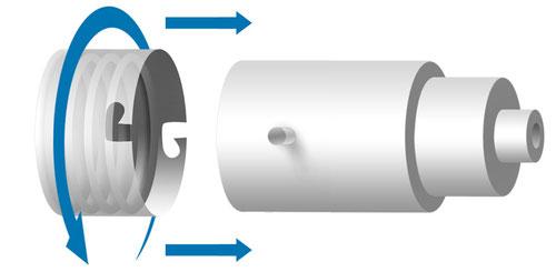 Bajonett-Adapter Verschluss