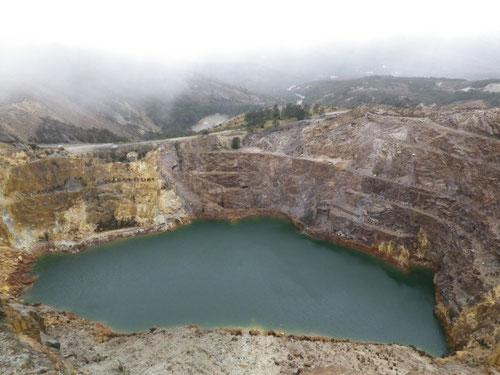 A mining hole
