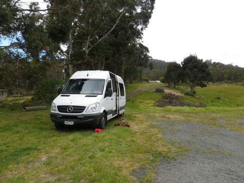 Camping in the RSL carpark