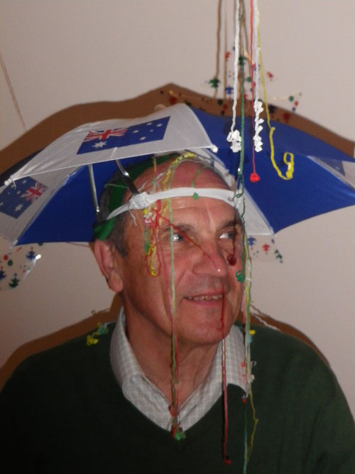 Dad's new umbrella