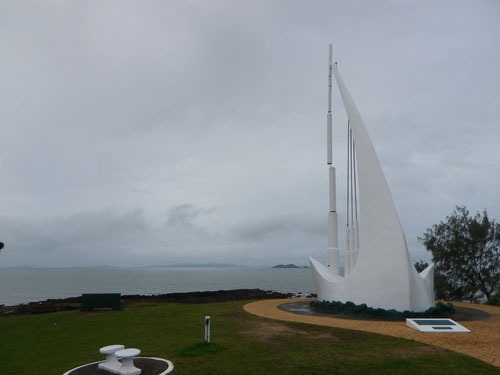 Captain Cook 'wind ship' at Emu Park (it whistles in the wind)