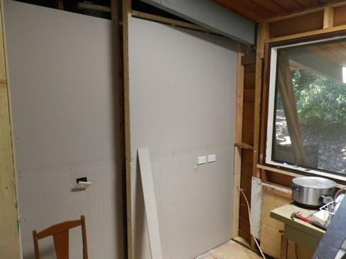 New plasterboard