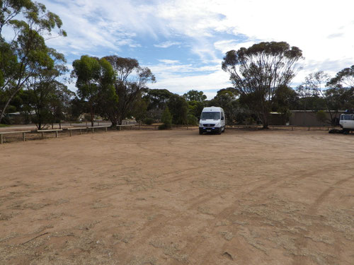 Our camp spot at Kimba