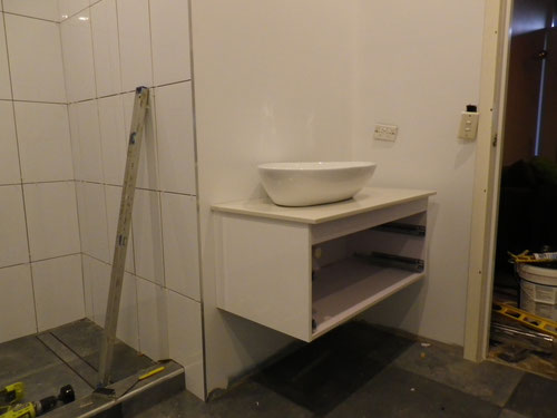 Same vanity as the ensuite but smaller