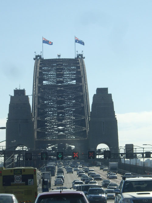 Heading over he Harbour Bridge