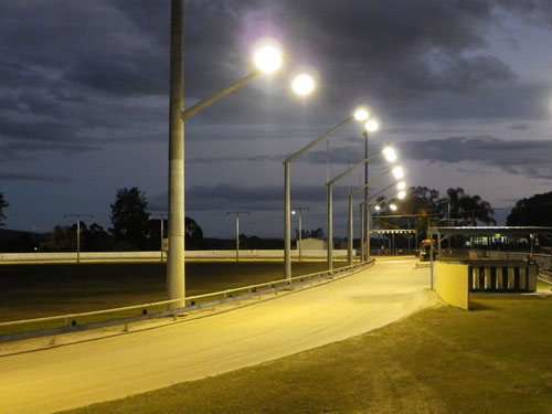 Dog track at Ipswich Showgrounds