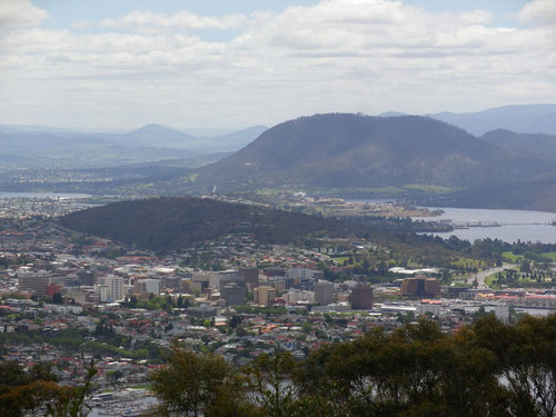 Hobart, as seen from Mt Nelson lookout
