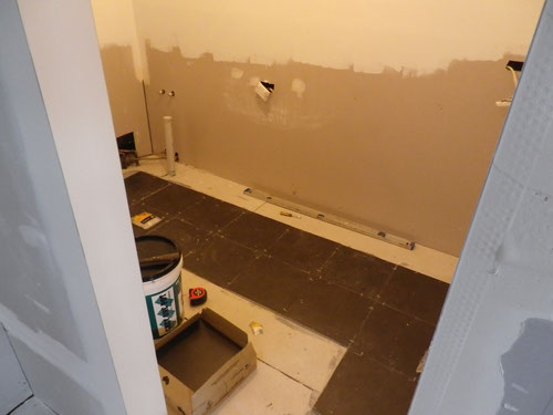 Making a start on the tiling