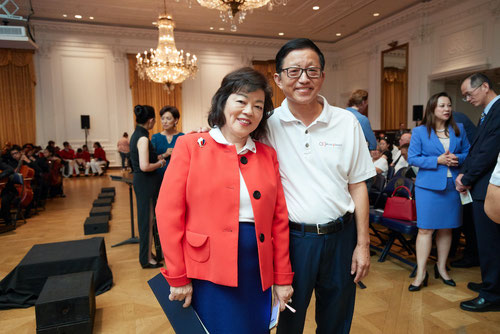 Charles Zhang, son of Chang Pao Cun with his wife Ling. Charles arrived in the USA in 1980 with only 20 USD in his pocket to be become a renowned serial entrepreneur and philanthropist. Source: Charles Zhang / Nixon Foundation