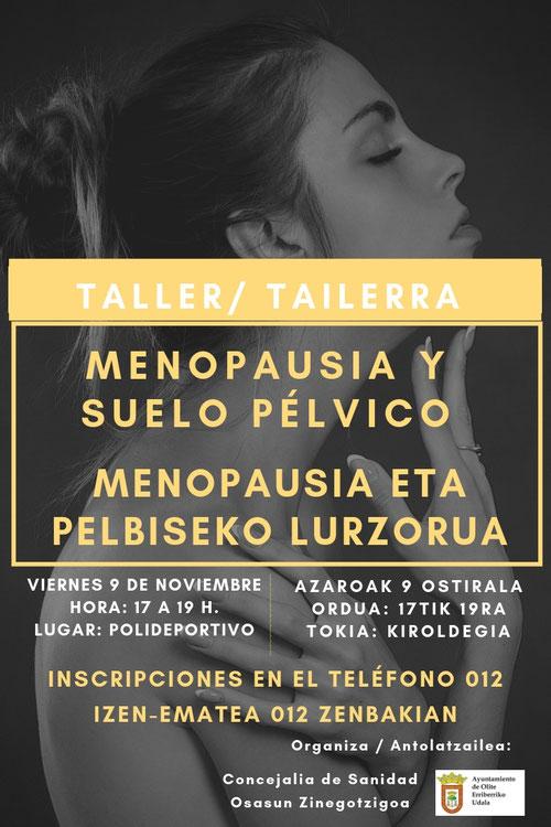 Taller de Suelo Pélvico 2018 organizado por el ayuntamiento de Olite e impartido por Blanca Cubero de Clínica Fisia