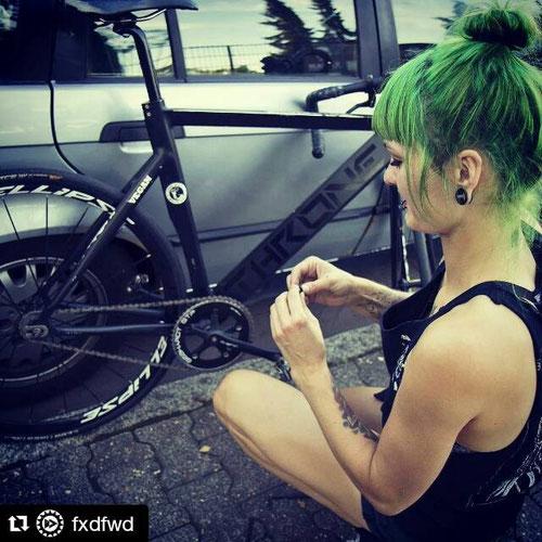 Silja mit Bike
