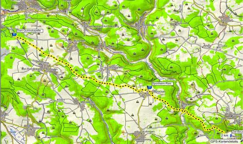 6Uhr Start   Quirinskapelle bis Beuron 20,3 km