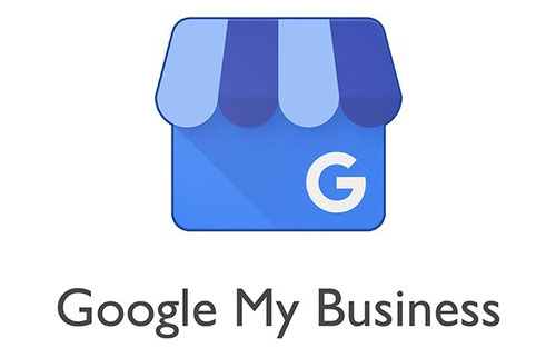 Google My Business Logo Blaues Einkaufshaus mit einem G Guido Media Online Marketing