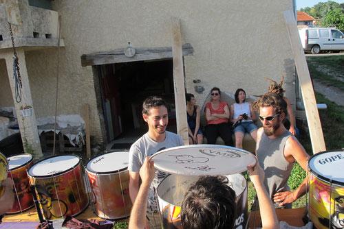 Montage de Surdos - Association Zé Samba