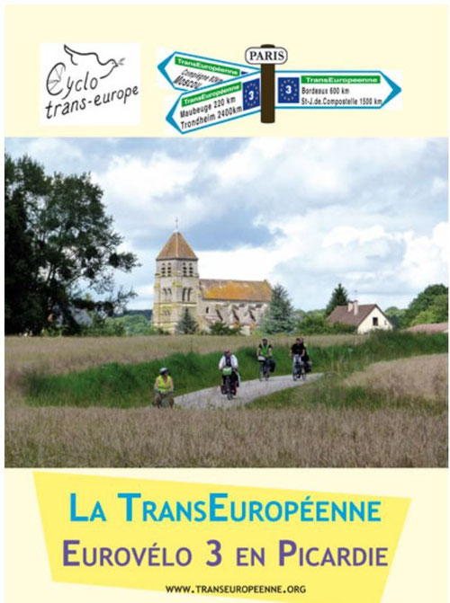 Tracé Eurovelo 3 en Picardie