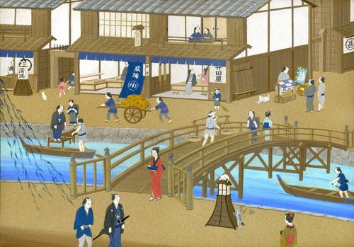 江戸の町、やっと完成!