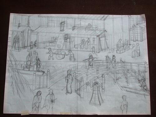 下描き 2