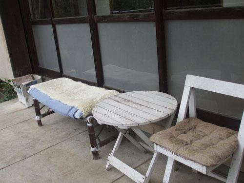 ベランダのグリのお休み場所