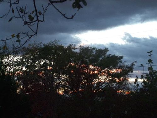 3日の夕焼け