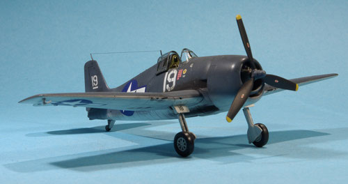 Flugzeugträger gestützes Jagdflugzeig F-6F3 Hellcat der USAF aus dem 2. Weltkrieg