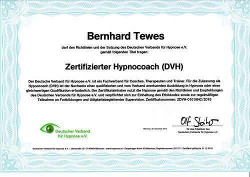 Zertifikat DVH Hypnoseverband