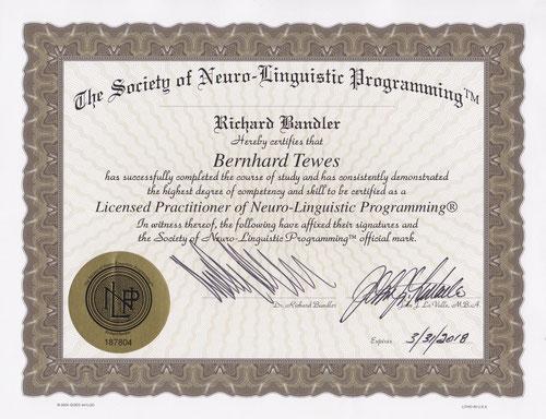 Richard Bendler Zertifikat Kiez Hypnose