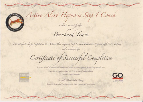 Zertifikat Aktivwach-Hypnose