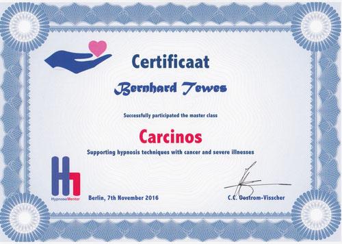 Zertifikat Carcinos