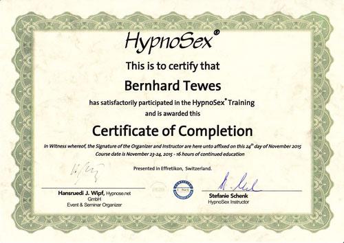 Zertifikat HypnoSex