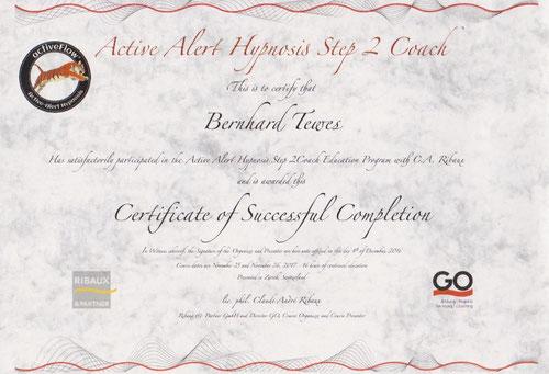 Zertifikat Aktivwach Hypnose