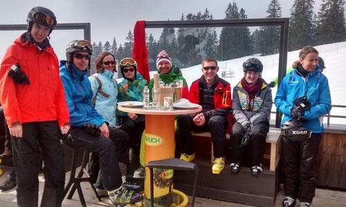 Lauftreffbetreuer im Skigebiet Laterns
