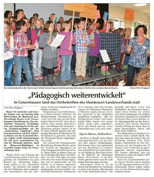 Erschienen u.a. in der Landshuter Zeitung vom 14.10.2014