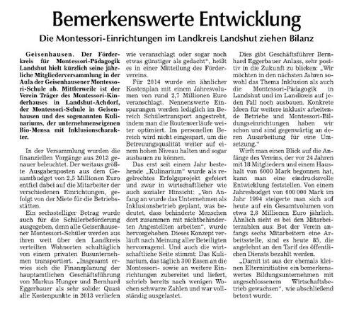 Vilsbiburger Zeitung vom 30.7.2014