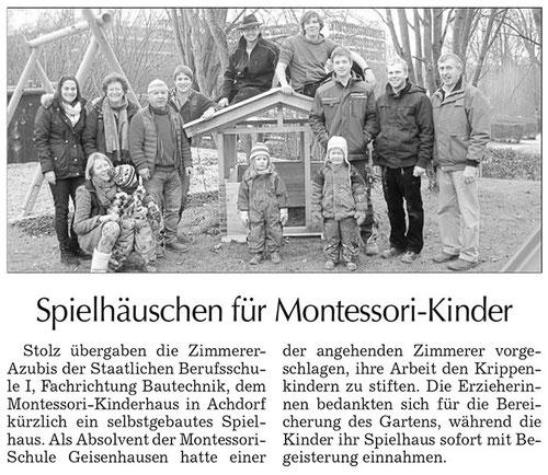 """Artikel """"Spielhäuschen für Montessori-Kinder"""""""