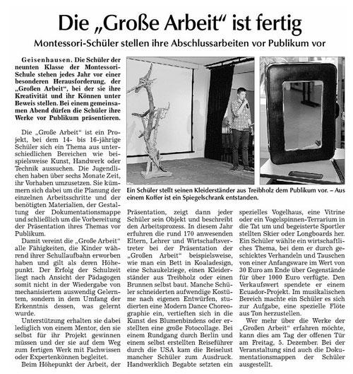 Erschienen in der Vilsbiburger Zeitung vom 24.11.2014