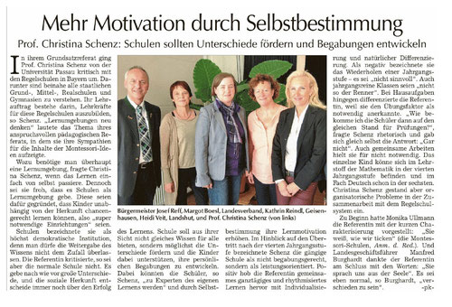 Erschienen u.a. in der Vilsbiburger Zeitung am 14.10.2014