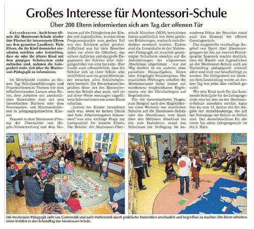 Erschienen am 9.1. in der Vilsbiburger Zeitung, Landshuter Zeitung, Rottenburger Anzeiger