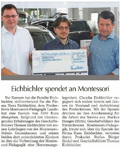 u.a. erschienen in der Landshuter Zeitung vom 18.7.2014