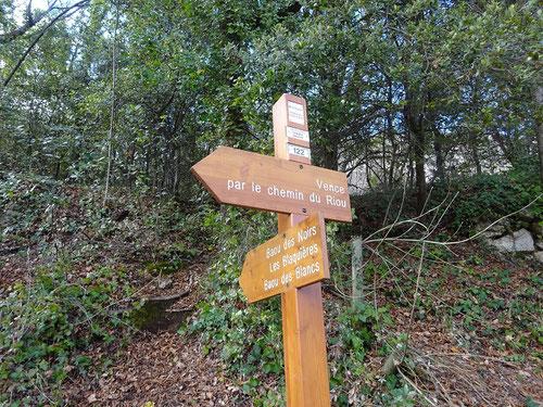 Début du sentier qui monte en forêt