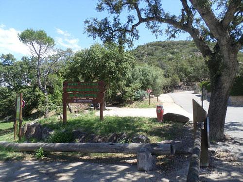 Arrivée dans le parc de San Peyre