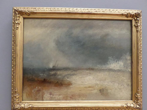Wawes breaking on a shore de Turner